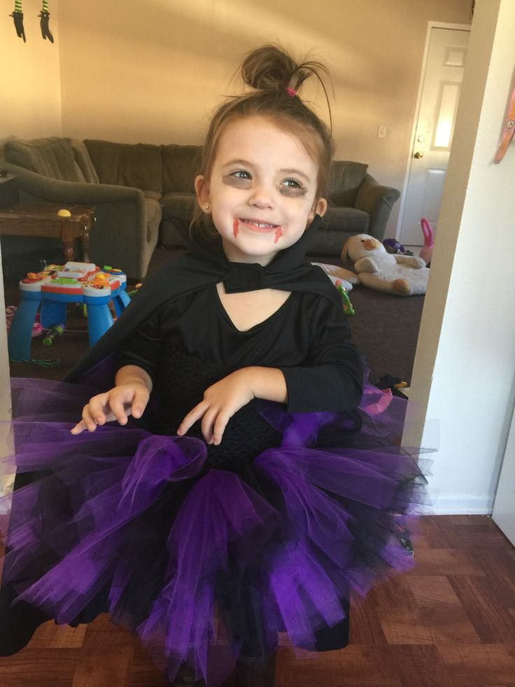 DIY vampire costume for girls! Tutu, tights, boots, a vampire cape, and some blood!