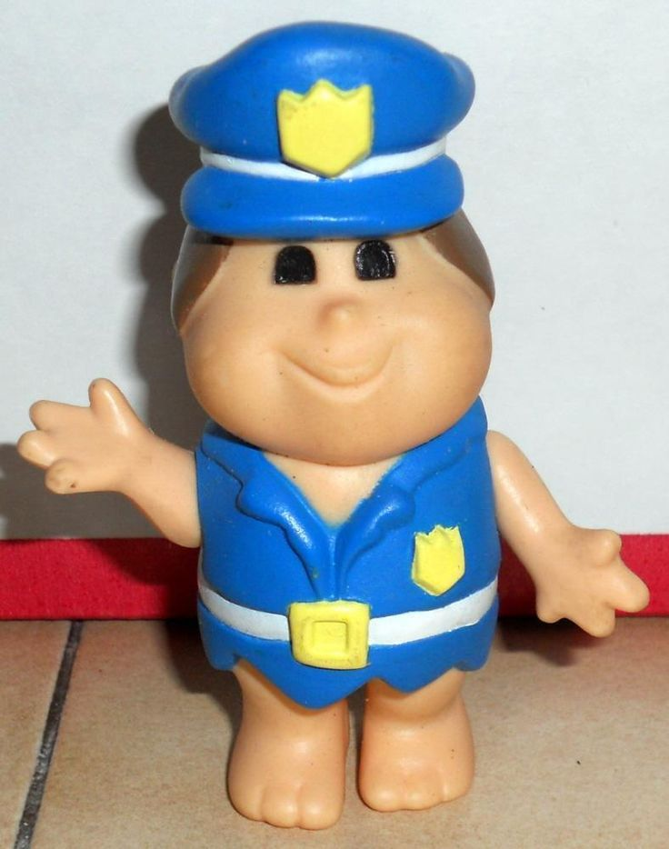 1986 Coleco FLINTSTONE KIDS Police officer Figure HTF Vintage  | eBay