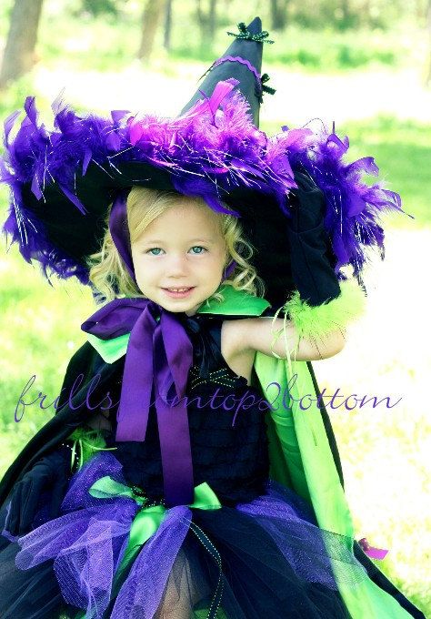 Toddler Witch Costume ... Great for Halloween, Dress up or Themed Party . Sizes 2T thru 5T. $75.00, via Etsy.