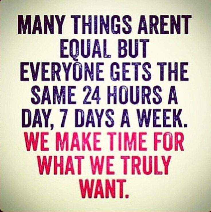 make time for what you truly want