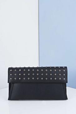 Eliza Studded Fold Over Clutch Bag
