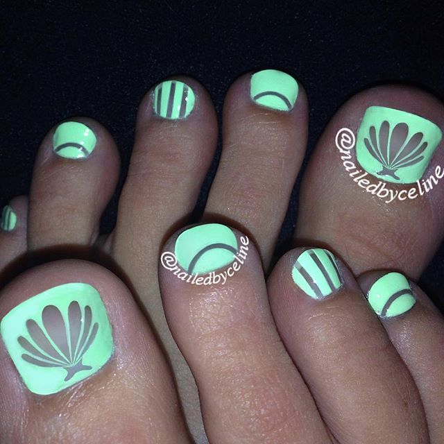 Painting Seashells With Nail Polish: 17 Best Ideas About Seashell Nails On Pinterest