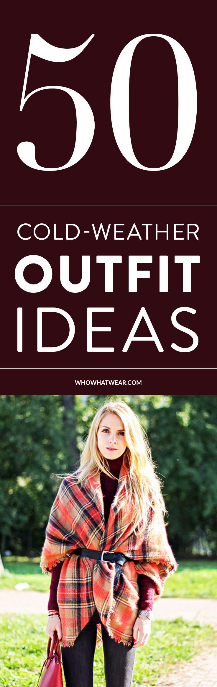 50 stylish outfit ideas to take you through the cold season.