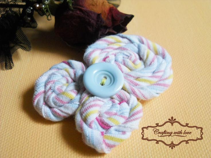 ~Limaçon~ Handmade fabric brooch.
