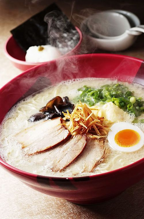 One of the most popular types of ramen, Hakata Ramen, is definitely the one you will love. The creamy white Tonkotsu soup perfectly matches with the straight thin noodles. Hakata Ramen (Hakata usually meaning the area around Fukuoka City, Fukuoka) originated in the 1940s, when a Japanese man started a ramen stall near the Hakata River. Since then, it has become popular among the ramen lovers in the country, and recently spreading the Japanese ramen trends all over the world.