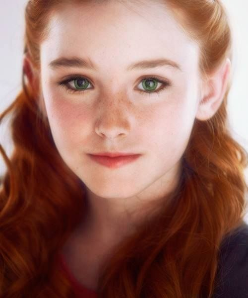 little girl with red hair and green eyes - Google Search
