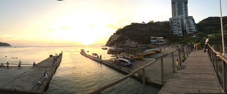Doc of bay in Santa Marta