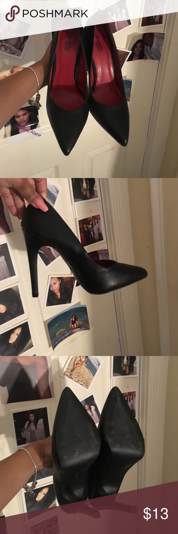 Charlotte Russe All Black Pointy Heels Only worn once to a interview (Got The Job). Perfect condition. Basically new. Charlotte Russe Shoes Heels