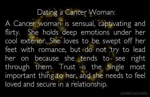 from Conner dating a cancer woman astrology