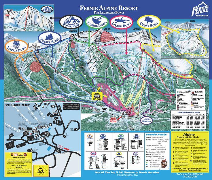 Whistler Blackcomb Trail Map  Winter  Pinterest  Trail maps