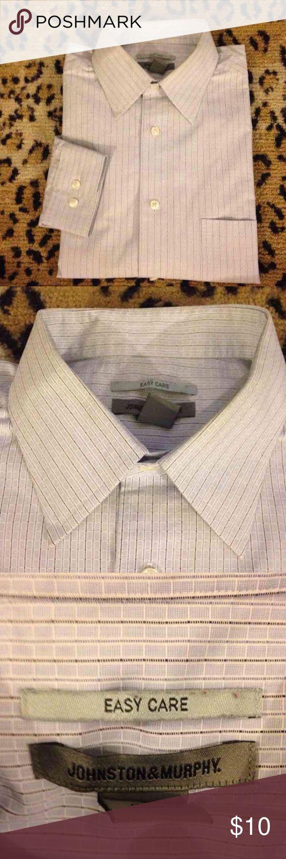 Spotted while shopping on Poshmark: Johnston & Murphy Blue Check Shirt L! #poshmark #fashion #shopping #style #Johnston & Murphy #Other