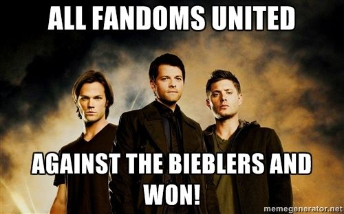 "Don't mess with us!!! ""Last night's Supernatural (1/21/14) was the series' most watched episode (2.7M) in more than three years. Week to week, Supernatural was up 22% in total viewers and up 10% in both W18-34 (1.1/3) and in A18-49 (1.1/3), and flat in A18-34 (0.9/3). Supernatural outrated original episodes of ABC's comedies in the 9pm hour in A18-34, A18-49, and W18-34."""