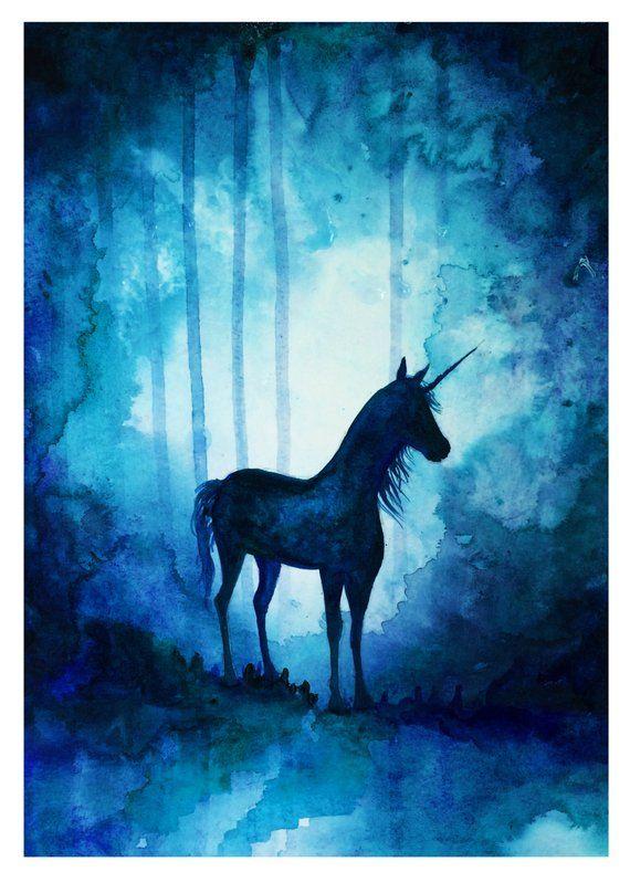 Magical Unicorn Print Tablolar Tuval Resimleri Ve Tuval Sanati