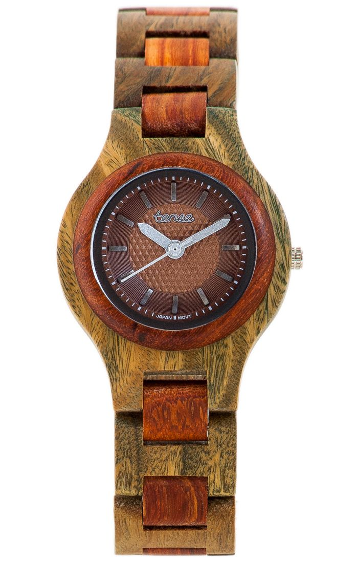 Tense Men's Pacific Watch in Green Sandalwood and Rosewood - $115 at tensewatch.com.