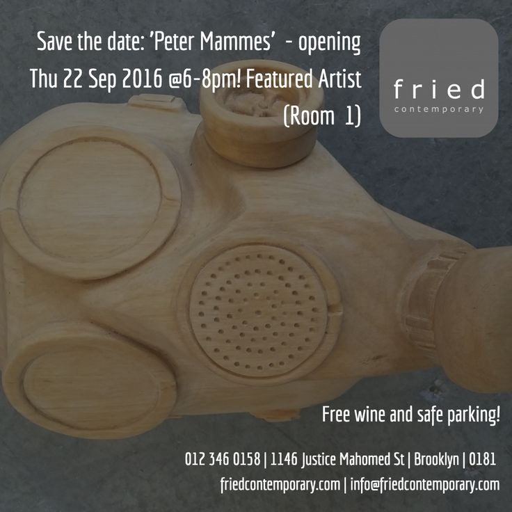 Peter Mammes: 'New Work' opening Thu 22 Sep @6-8pm! #art #pretoria Exhibition #events #culture #afrikaans #kuns