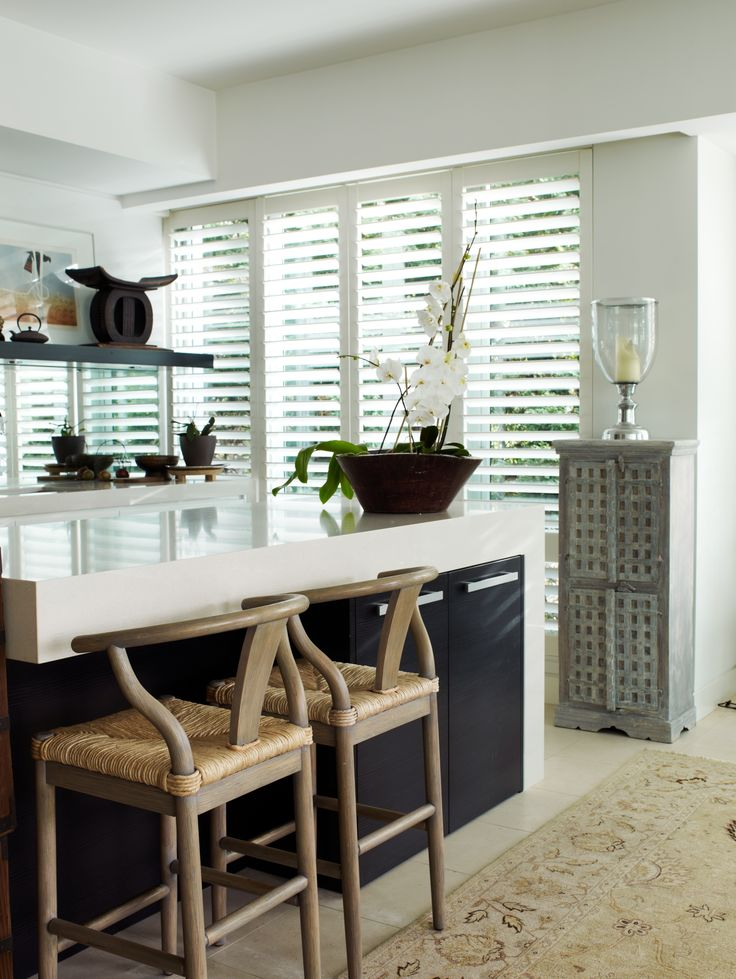Kitchen updated with Furniture and shutters. Brooke Aitken Design.