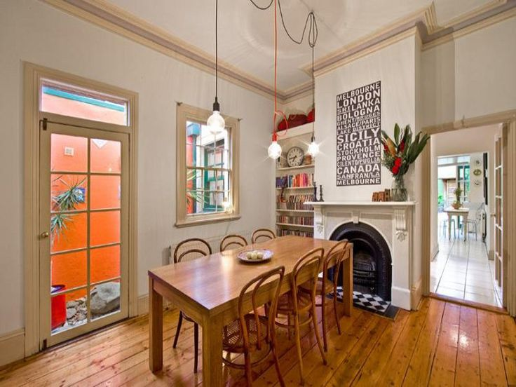 FLOORS: Dining Rooms, Hanging Lights, Decor Design, Chairs, Inspiration Ideas, Interiors Design, High Ceilings, House, Small Spaces