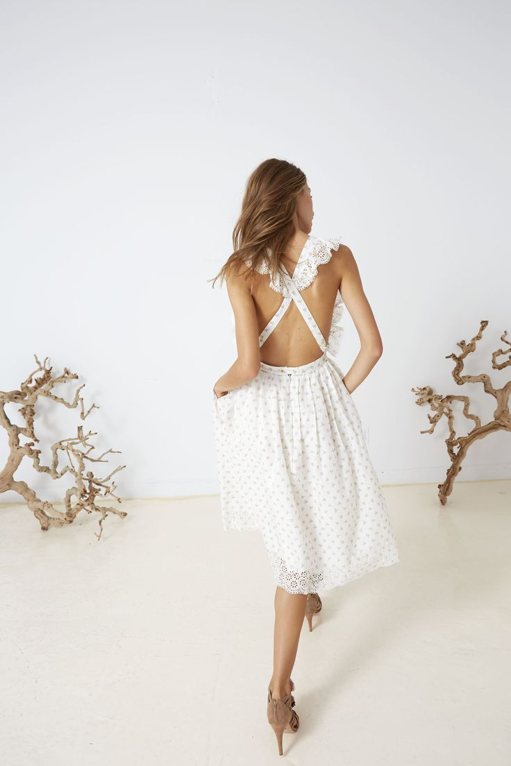 Ulla Johnson Spring 2016 Collection - Ethel Pinafore with Nati Heel