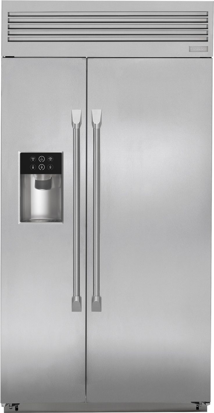 Monogram ZISP420DKSS 42 Inch Built-in Side-by-Side Refrigerator with Adjustable Glass Shelves, Climate Control Drawer, Deli Drawer, Humidity-Controlled Crisper, Gallon Door Storage, External Water-Ice Dispenser, WiFi Connect, LED Lighting and Star-K Sabbath Mode: Stainless St