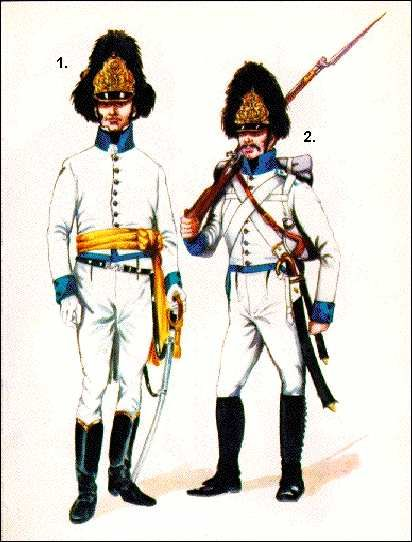 Austrian; German Line Infantry, Grenadier Officer and Grenadier 1809