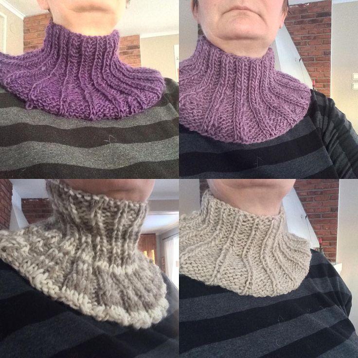 Nä jag är inte galen, bara lite. #halskrage #cowl #sticka #knittingaddict #knitting #garnfiafo2017