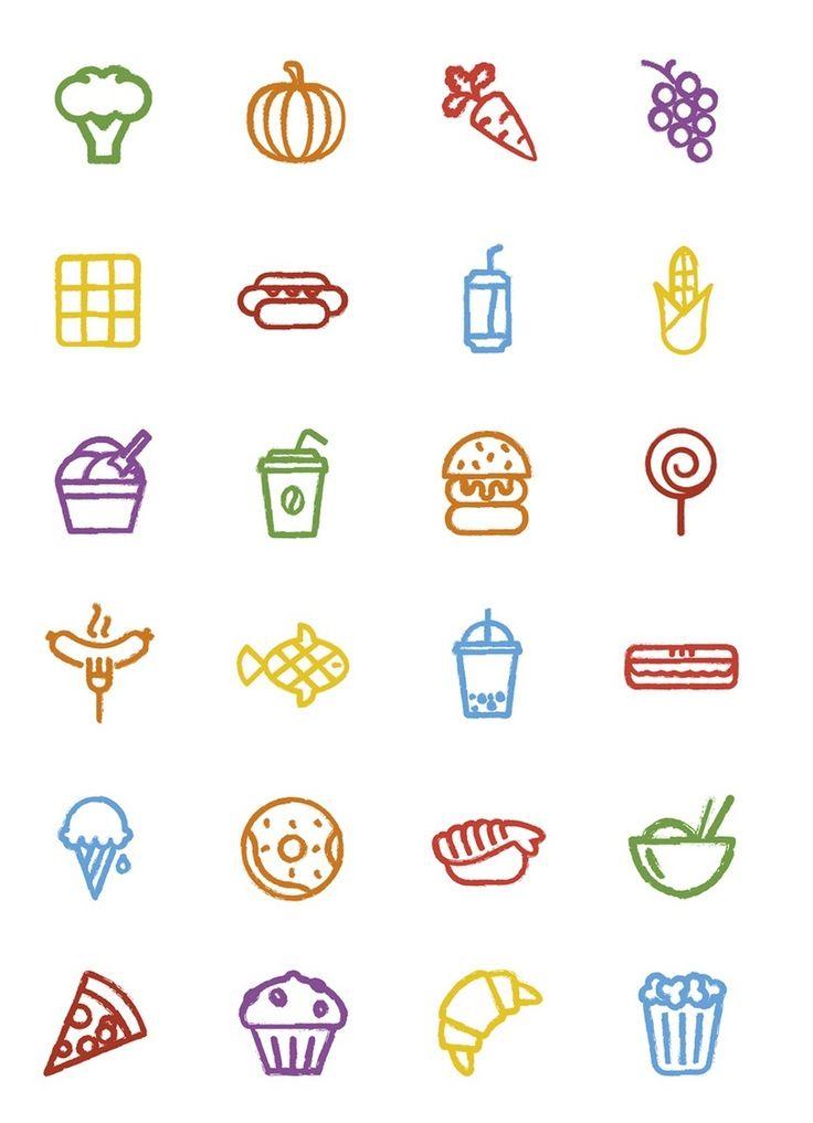 7 besten Design in der Küche: Food Items-Set zum download Bilder auf ...