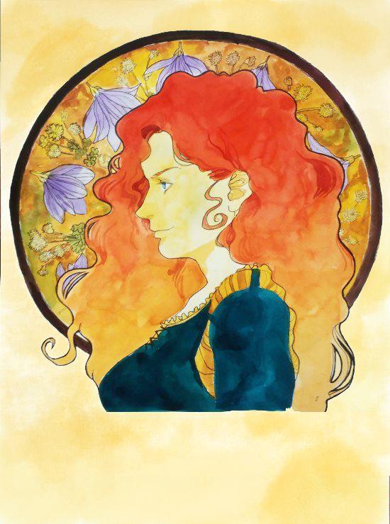 MERIDA#brave#watercolor