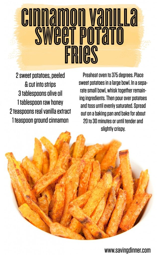 Baked Cinnamon Vanilla Sweet Potato Fries