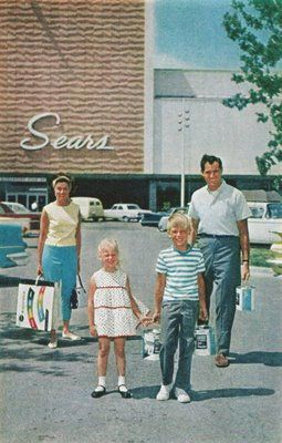 """Sears was almost a shopping mall unto itself back then. I remember the smell of popcorn wafting through the entire store. Where there was popcorn, there was also a candy counter. And the whole store smelled like new tires, and still does"""