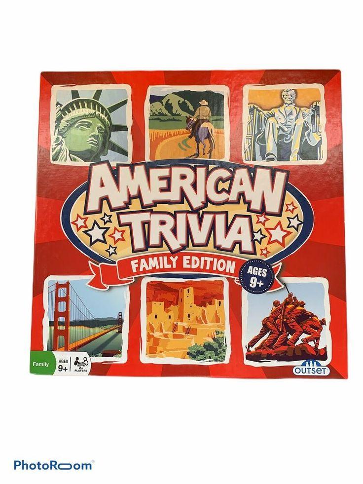 American trivia family edition board game outset trivia