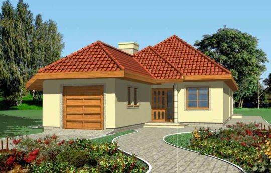 Projekt Jamnik 2 to wygodny dom na wąską działkę - nawet 15-metrową. Bryła przekryta wielospadowym dachem. Projekt domu posiada dobudowany garaż. Wnętrze domu zaprojektowano tak, aby była możliwość zamieszkania w pierwszym etapie tylko na parterze.