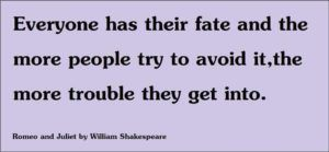 Shakespeare Quotes on Fate
