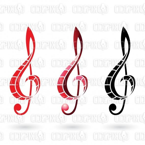 illustration by cidepix #drawing #vectorillustration #illustration #design #designs #vector #vectors #clipart #clef #sign #clefsign #red #black