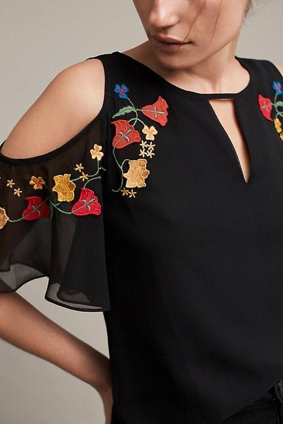 d8bad56fc25f Blusas bordadas estilo mexicano,blusas mexicanas bordadas de moda ...