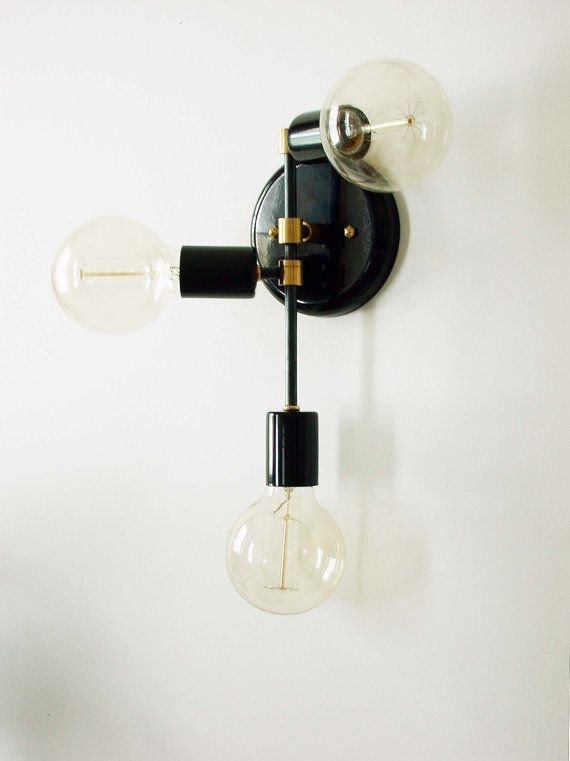 electric wall sconces modern lighting. triple wall sconce fixture modern lamp by dldesignworks electric sconces lighting a