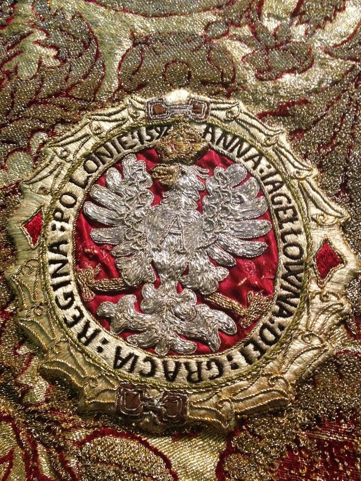 Detail of a chasuble established by Anna Jagiellon by Anonymous from Kraków or Warsaw (fabric from Italy), 1592 (PD-art/old), Muzeum Skarbca Katedralnego im. Jana Pawła II w Krakowie
