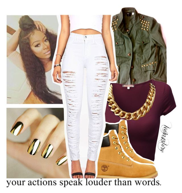 Outfit 1 by leah143love on Polyvore featuring polyvore fashion style Timberland clothing