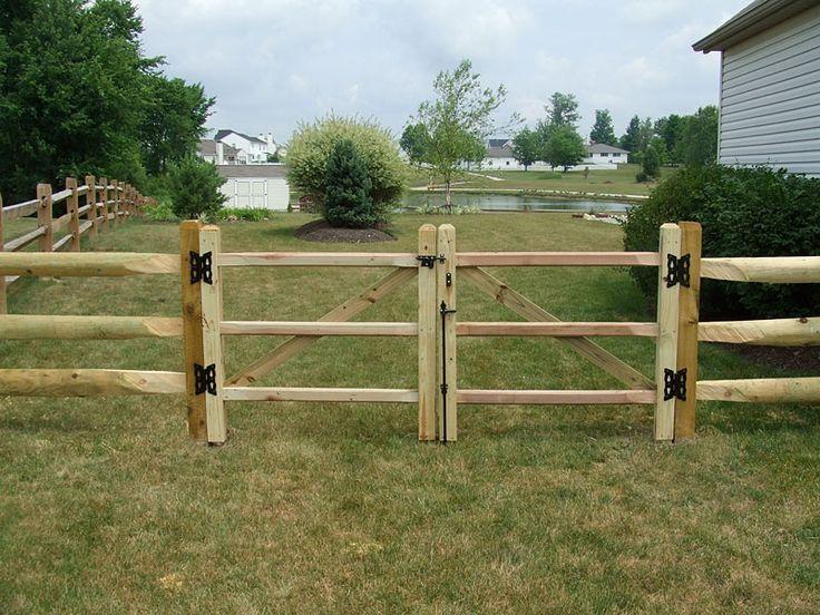 Split rail fence prices wood w gate