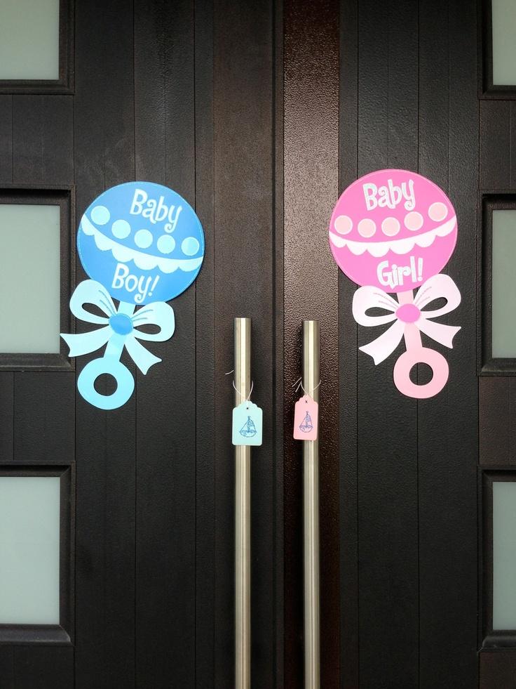Gender Reveal party door decoration | Gender Reveal Party ...