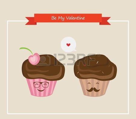 inconformista magdalenas retro hombres y mujeres, día de San Valentín feliz