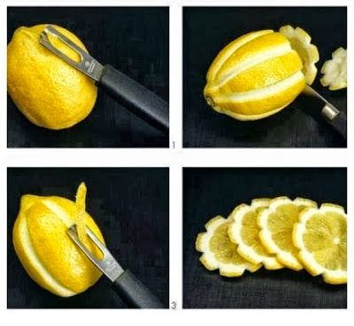 DIY Easy Lemon Flower Garnishing