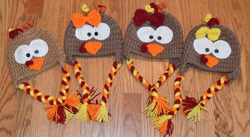 turkey hat, crochet turkey hat, baby thanksgiving hat, thanksgiving