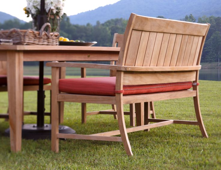 Creating A Unique Style Can Be Mixing Chairs And Benches To A Summer  Classics Dining Set! This Club Teak Outdoor Bench Looks Great Among The  Traditional ...