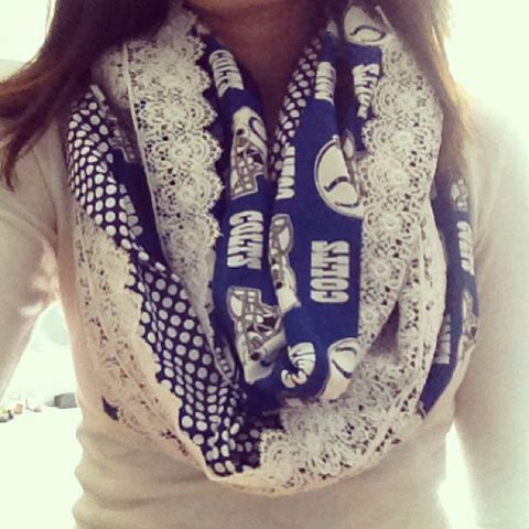 For the wife! Hey, I found this really awesome Etsy listing at https://www.etsy.com/listing/167298310/indianapolis-colts-nfl-infinity-scarf