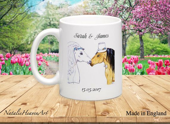 Horse Wedding Mug Wedding Gift for Horse Lovers Country