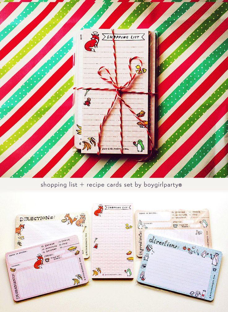 hostess gift: KITCHEN set / CHEF Gift Set by boygirlparty, shopping list / recipe cards, thanksgiving gift, host gift thoughtful gift by boygirlparty on Etsy https://www.etsy.com/listing/117416473/hostess-gift-kitchen-set-chef-gift-set