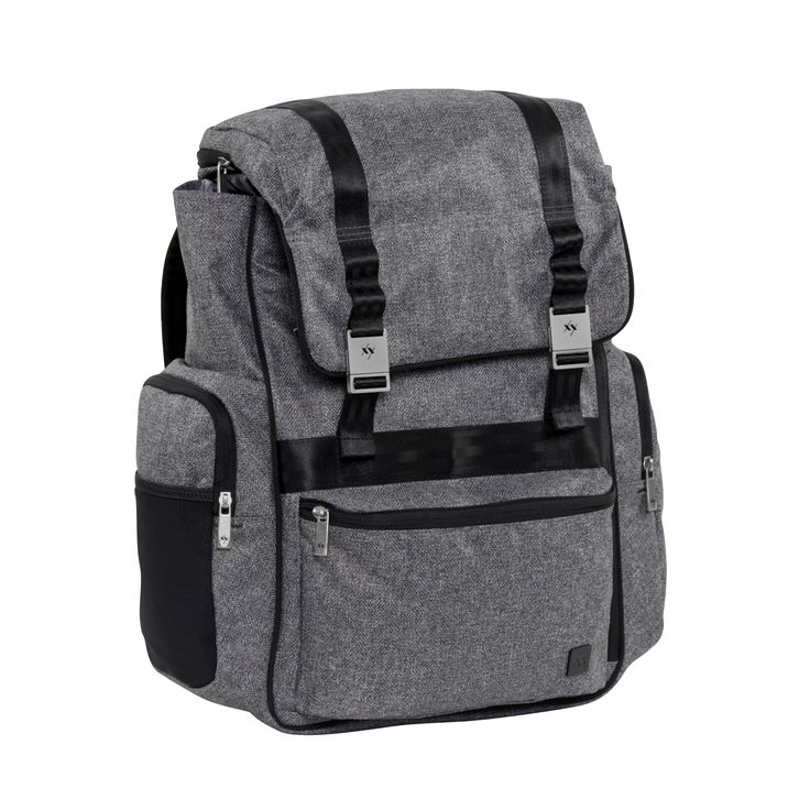 XY-HATCH-GRAY MATTER  Hatched from the quest for functional fashion, this unique top loader design comes with additional deep zipper access and sports a top pocket that holds everything needed for a quick change. Urban or trail ready, the ergonomic shoulder harness delivers long haul comfort, sporting premium padding and a sternum strap. Ultra organized inside and out, you'll  nd plenty of places to stash dad essentials. Zippered water bottle pockets.