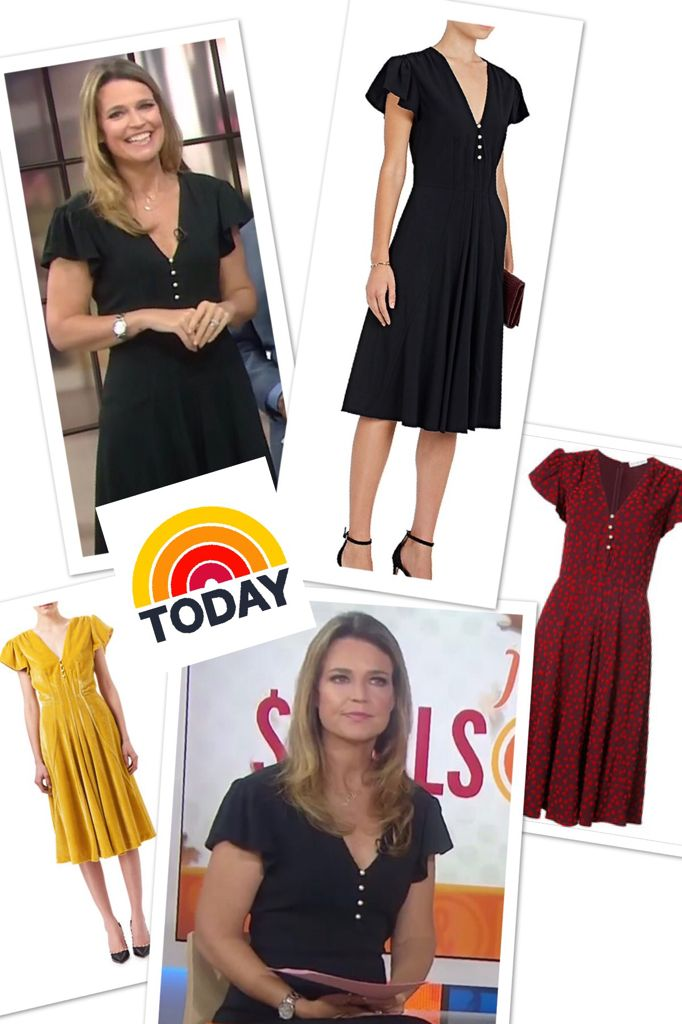 Savannah Guthrie's Pearl Button Flutter Sleeve Dress on #Today http://www.bigblondehair.com/character/savannah-guthries-pearl-button-flutter-sleeve-dress/ Today Show Fashion