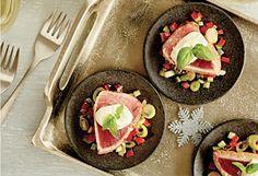 Tataki de thon albacore, mayonnaise au jus de lime et basilic