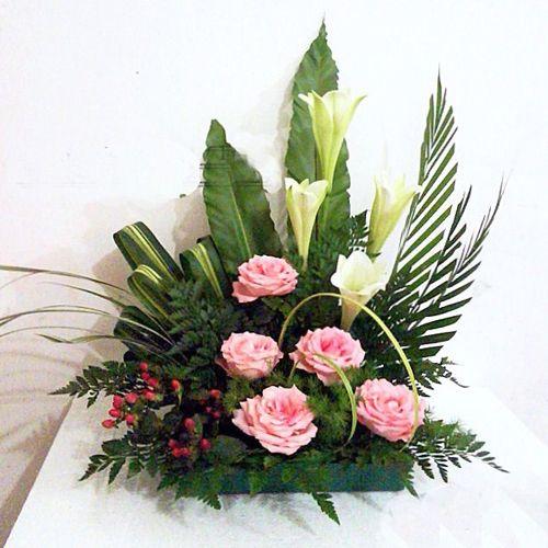 Orange Roses Zen Design-Roses Vase Arrangement